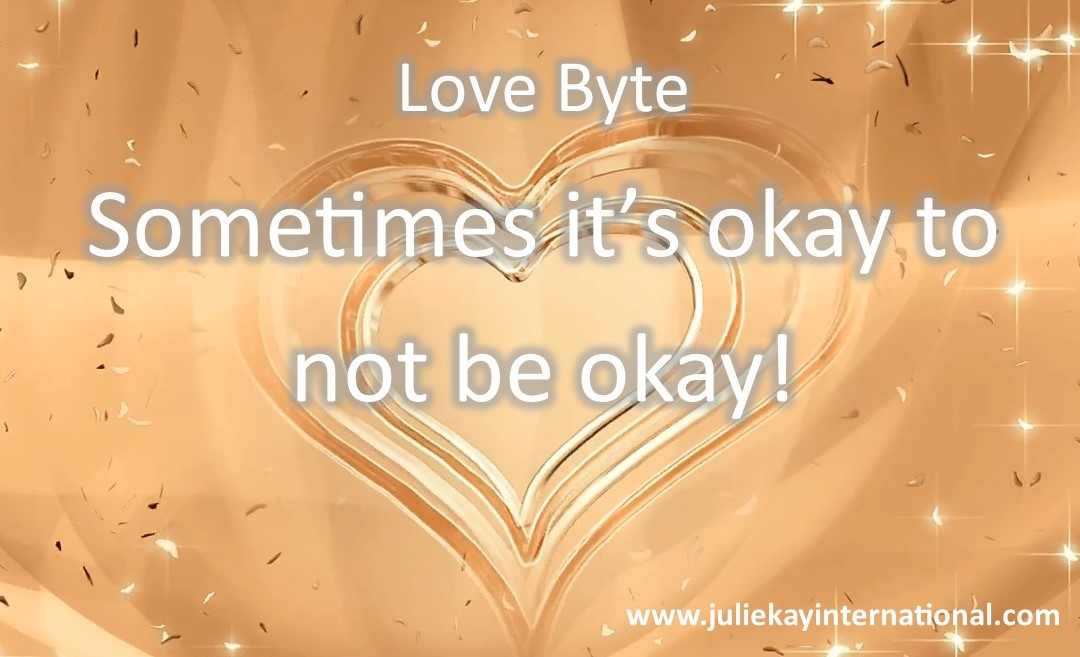 It's okay to not be okay...